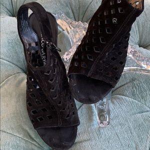 Franco Sarto suede wedge sandals